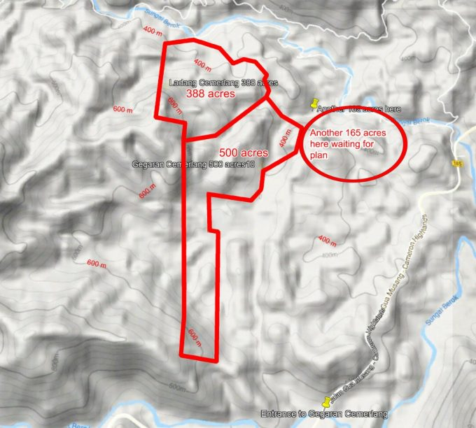 Cameron – Gua Musang – 388 + 165 acre agriculture land