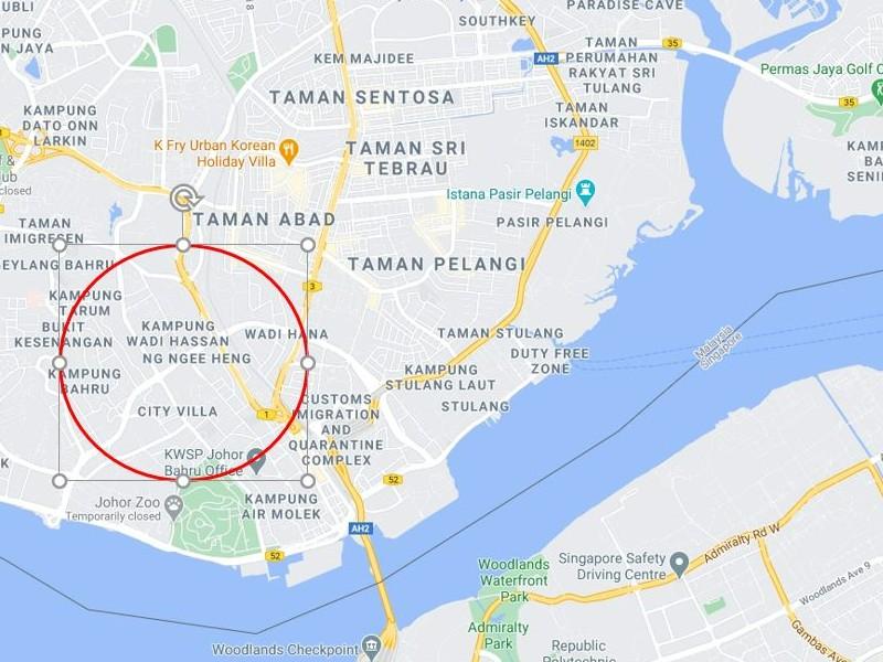 Johor Bahru – 3 acres Freehold Development Land (Only around 5 km / 15 mins to Singapore)